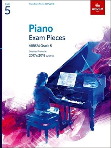 英國皇家 2017-2018 鋼琴考試指定曲 第5級 (不含CD) ABRSM Piano Exam Pieces 2017 & 2018 Grade 5